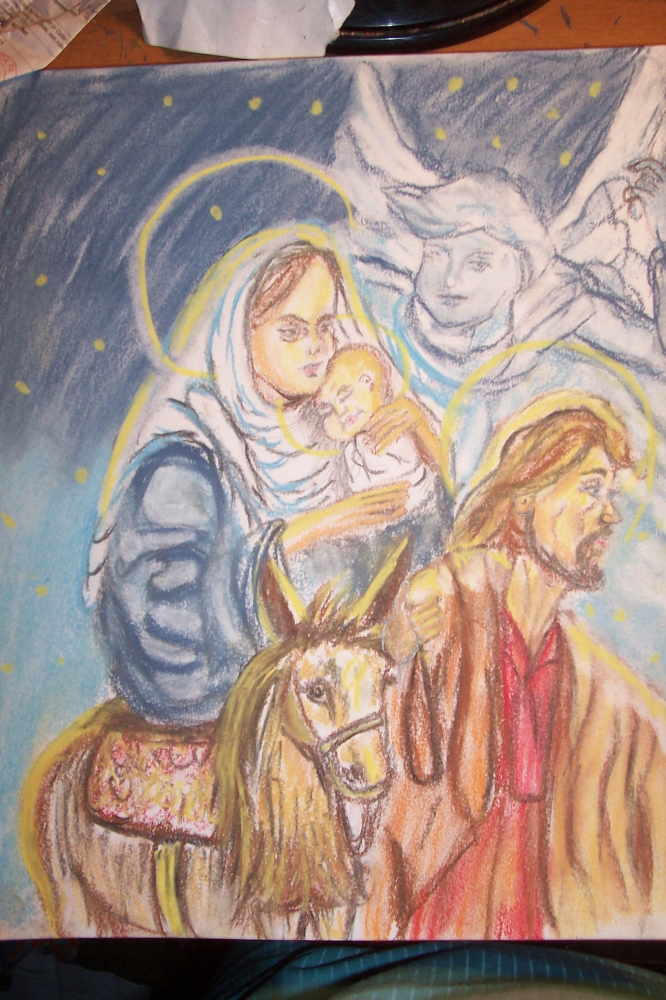 Jesus Christ, Virgin Mary, Saint Joseph par cindykron